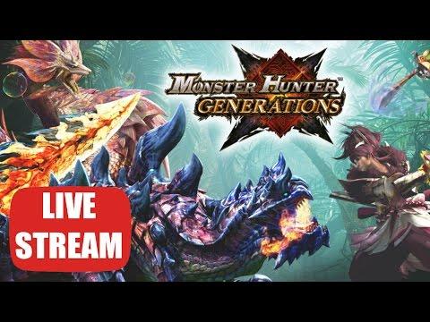 Monster Hunter Generations - LIVE STREAM - PROWLER MODE - HR 1,2&3☆ Quests - Paraiya + Viewer Hunts!
