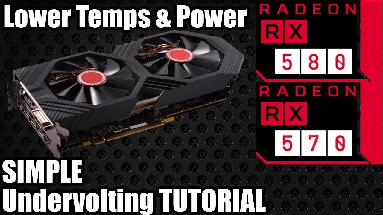 How to Undervolt an AMD RX 580 / 570 - Radeon Undervolting Tutorial - More  Consistent Core Clocks