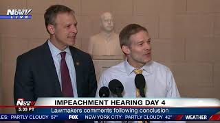 """ANOTHER GOOD HEARING FOR THE FACTS"": Jim Jordan speaks following impeachment hearings day 4"