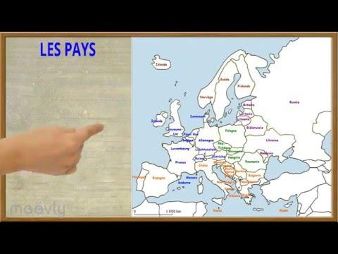 Géographie - Les pays de l'Europe