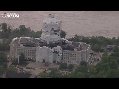 RAW: Missouri State Capitol In Jefferson City After Tornado Hits The City May 22, 2019