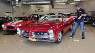 1966 Pontiac GTO Convertible Pro Touring for sale with driving sounds, and walk through video