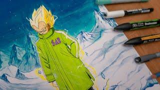 Drawing Vegeta NEW MOVIE Style !