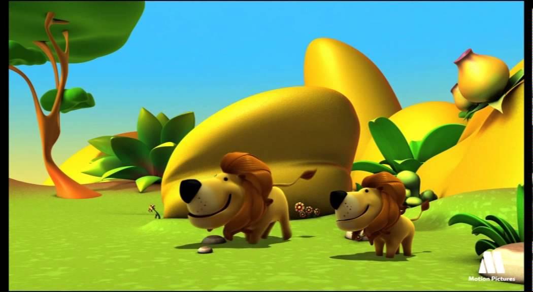 El león, animales para niños - dibujos educativos
