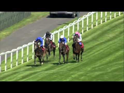 Kingman winning the Solario Stakes at Sandown Park Racecourse