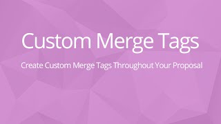 Custom Merge Tags