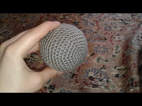 Обвязать шарик крючком