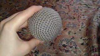 Ровный шарик крючком. Шарик столбиками без накида. Вязание # 2.