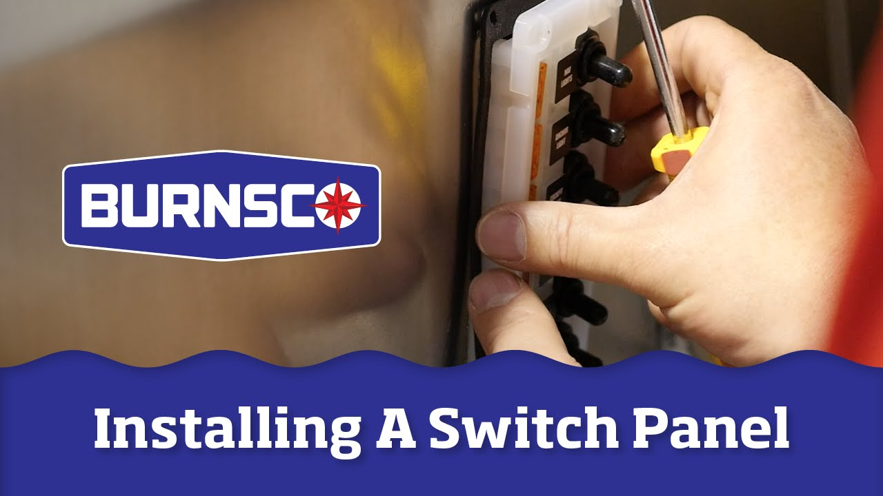 hight resolution of how to install a switch panel on your boat