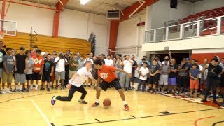 Professor balling with Campers at Biola University