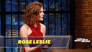 Download Rose Leslie Won't Let Kit Harington Read Game of Thrones Scripts Near Her Mp3 and Videos