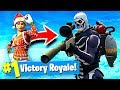 MY FIRST TIME USING SKULL TROOPER IN FORTNITE BATTLE ROYALE!!!