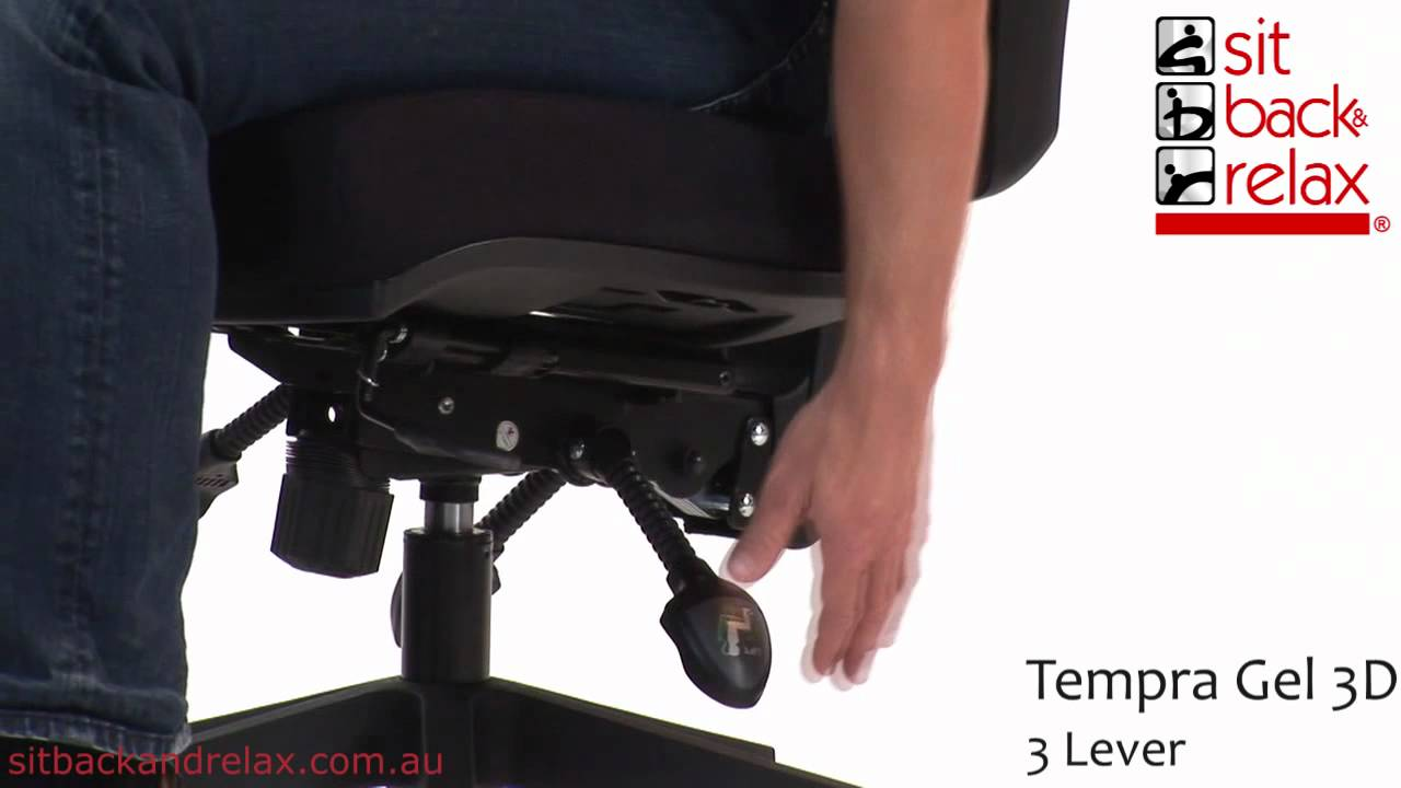 ergonomic chair levers mi new design group tempra gel 3d 3 lever office youtube