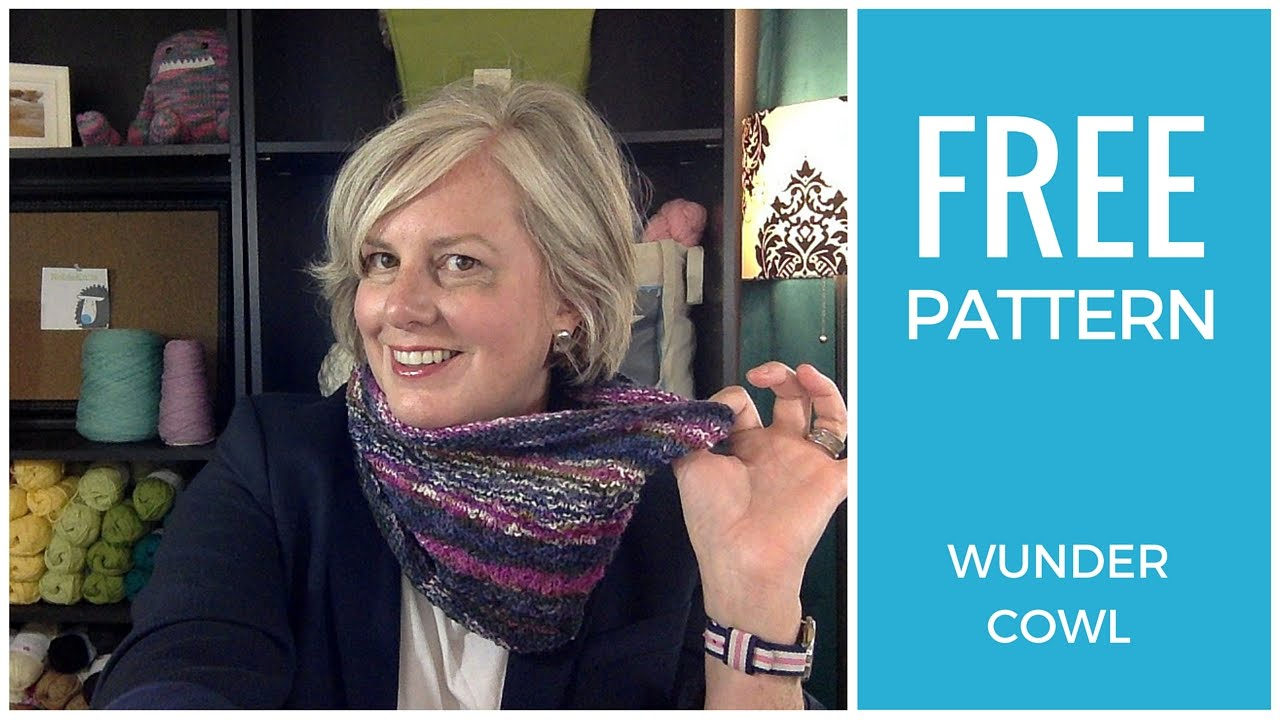 Easy! Wundercowl One Skein Free Knitting Pattern - YouTube