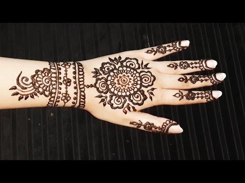 Flower Pattern Mehndi Designs : Floral henna pattern spring mehendi design pretty flowers