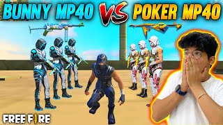 Bunny Mp40 vs Poker Mp40 On Factory Roof - Most Wanted Mp40 Battle - Garena Free Fire
