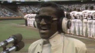 1986 ALCS Gm3: Sammy Davis Jr. sings national anthem
