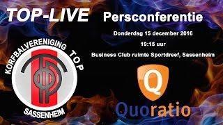 Persconferentie TOP/Quoratio, donderdag 15 december 2016
