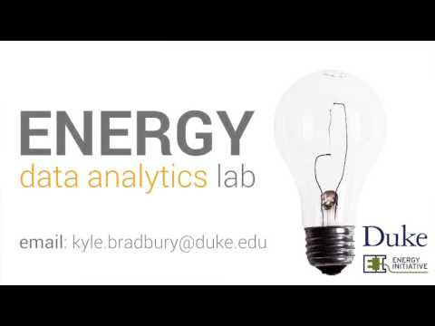 Introduction to the Energy Data Analytics Lab