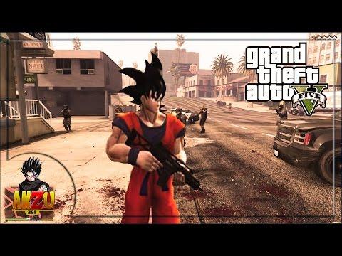 GOKU EN  GTA V | GTA V DRAGON BALL SUPER MODS | ANZU361