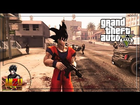 GOKU EN  GTA V | GTA V DRAGON BALL SUPER MODS | ANZU361