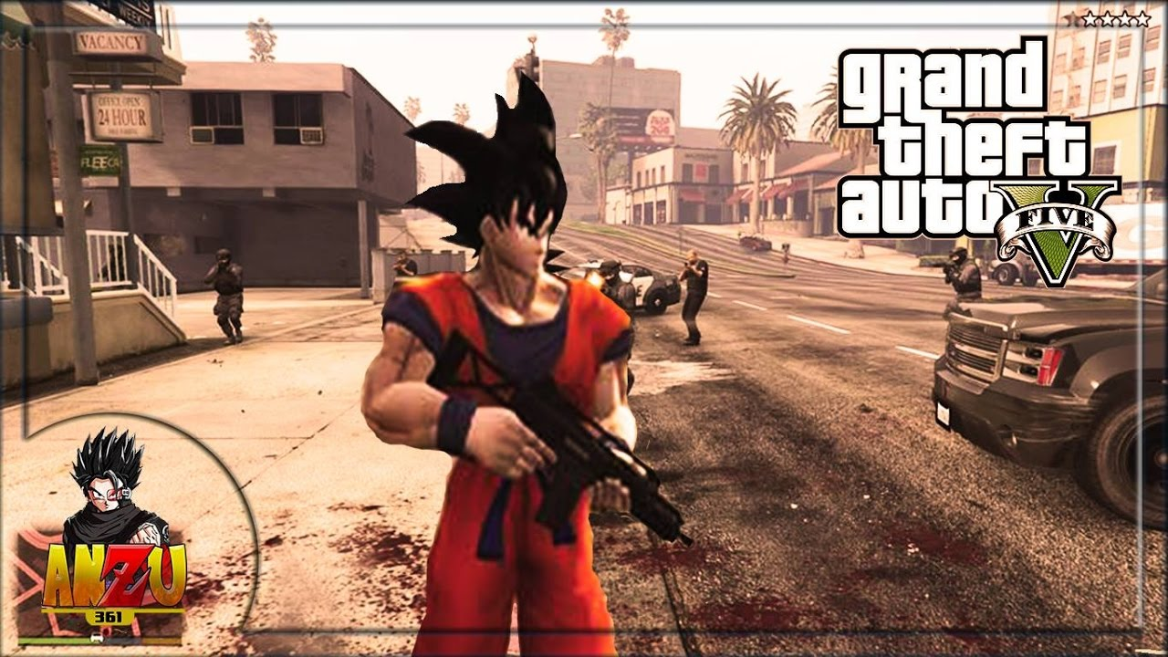 goku en gta v gta v dragon ball super mods anzu361 youtube. Black Bedroom Furniture Sets. Home Design Ideas
