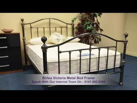 Birlea Victoria Black Nickel Metal Bed Frame