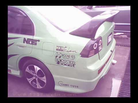 Honda Civic Modified Car In Pakistan Green Civic Youtube