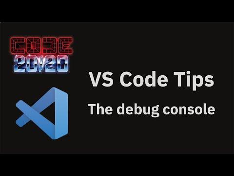 The debug console