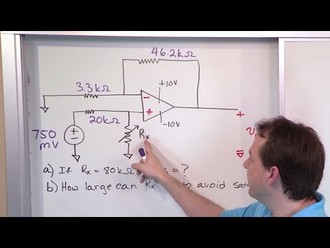 02 - Non-Inverting Op-Amp (Amplifier) Problems, Part 1