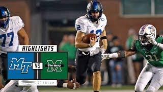 Middle Tennessee vs. Marshall Football Highlights (2018) | Stadium
