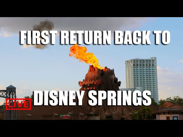 LIVE: Returning To Disney Springs For The First Time - Disney Live Stream