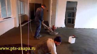 Устройство полусухой стяжки(Устройство полусухой стяжки, стяжка, бетонные полы, промышленные технологии строительства., 2011-06-27T23:58:34.000Z)