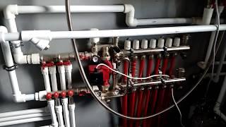 Как сделать отопление в двухэтажном доме из газобетона. Теплые полы. Газовая котельная.