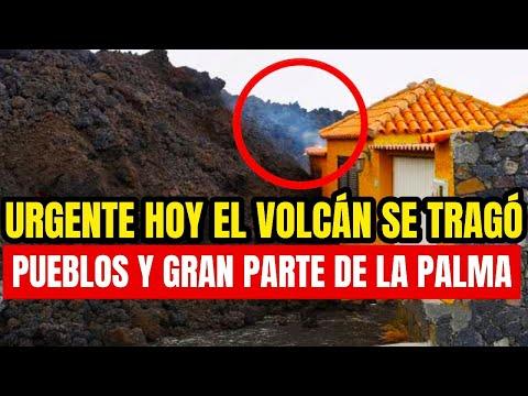 ¡Gran Tragedia, Volcán Hoy Se Tragó Un Pueblo Entero y Lo Desapareció! Así Quedo La Palma España