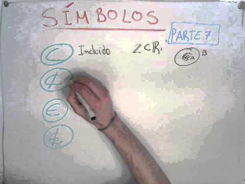 Símbolos Matemáticos Parte 7 || Incluido, no incluido, pertenece y no pertenece.
