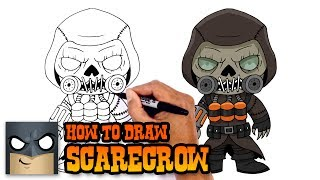 How to Draw Scarecrow | Batman Arkham Knight