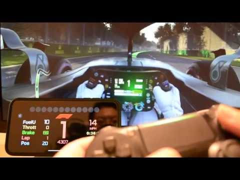 Sim Racing Dash for F1 2018 iOS App - Demo Video