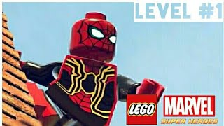 SPIDER-MAN (INFINITY WAR) - LEGO Marvel Super Heroes walkthrough with MODs (Level 1)