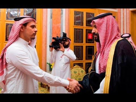 Saudi King and Crown Prince meet Jamal Khashoggi's son