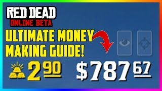 Red Dead Online ULTIMATE Money Making Guide - How To Make FAST Cash & EASY Gold Bars! (RDR2)