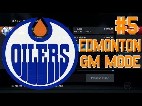 NHL 16 GM Mode #5 l TRADE DEADLINE MOVES! TONS OF TRADES! l Edmonton Oilers