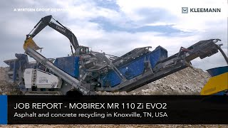 Video still for KLEEMANN Job Report - MR 110 Zi EVO2 Concrete and Asphalt Recycling