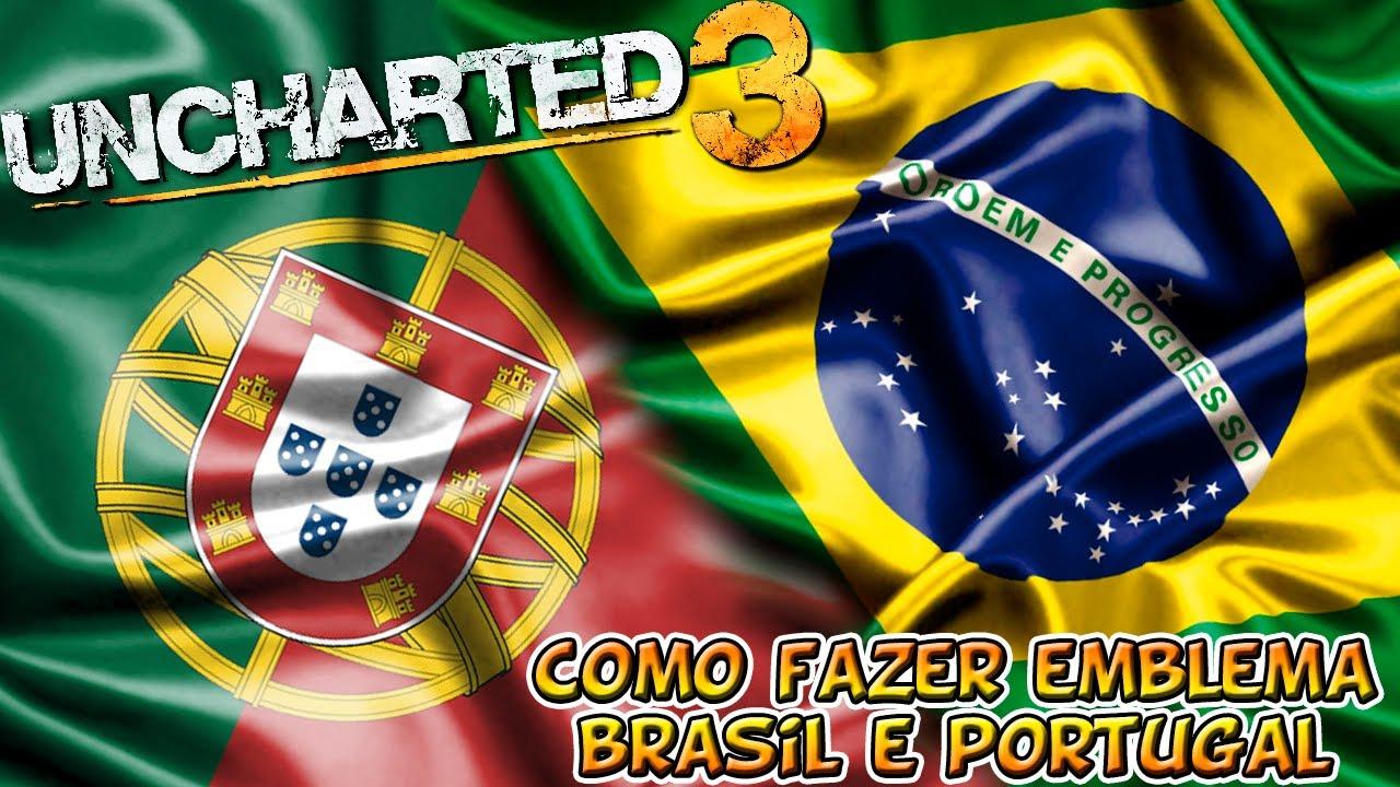 Uncharted 3 Tutorial Emblema Brasil e Portugal - GameVicio