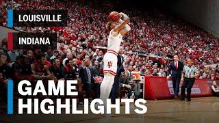 Highlights: Louisville at Indiana   Big Ten Basketball