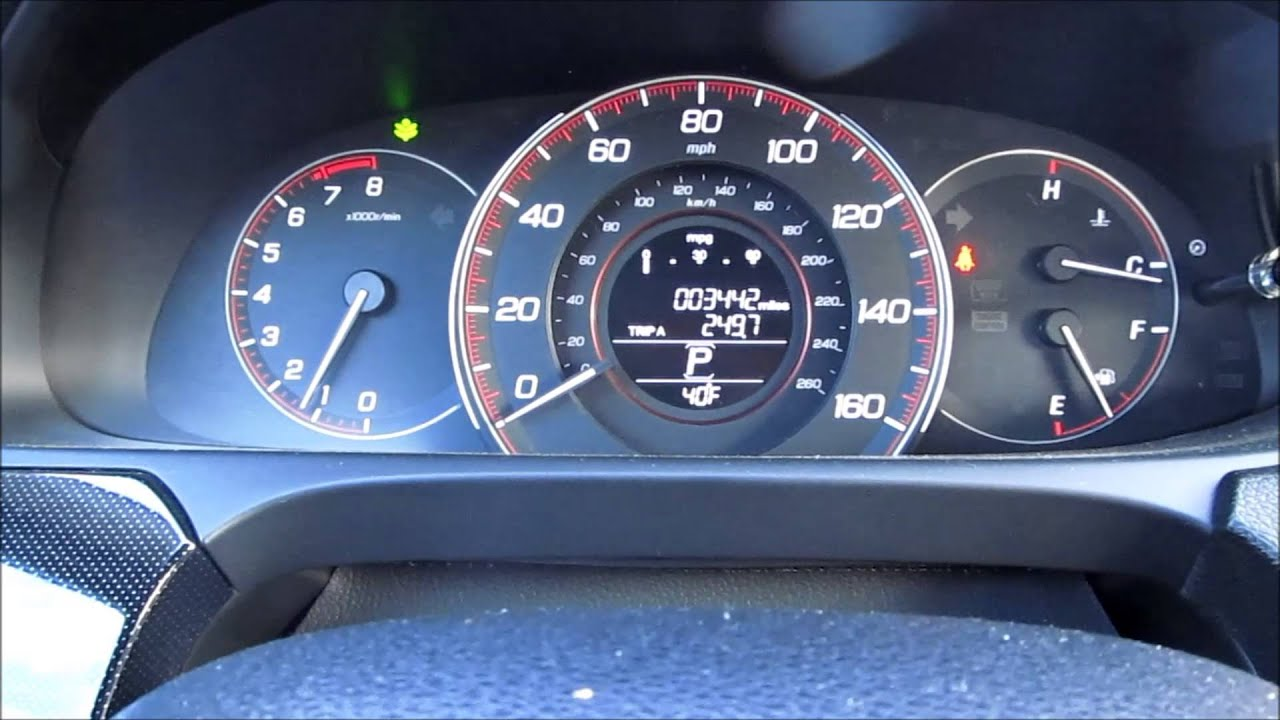 Honda Accord Sport >> 2013 2014 2015 Accord How to Adjust the Green Econ Bar meter - YouTube