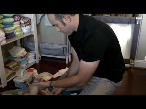 Changing a Poopy Cloth Diaper - Jack Be Natural - YouTube