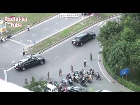 40 Xe Ra Sân Bay Tân Sơn Nhất đón Tổng Thống Obama.