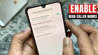 How to Enable Read Caller Names Aloud in Samsung Galaxy A70 screenshot 3