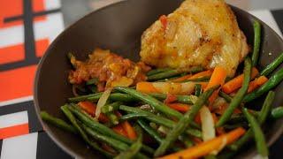 Découvrez l'histoire d'une recette de poêlée de légumes haricots verts et carottes
